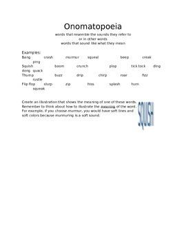 Onomatopoeia - Practice Page for Poetry Intro