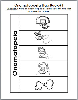 Onomatopoeia Puzzles, Interactive Flap Books, Printables, Poster, & Word Wall