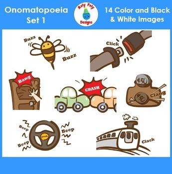 Onomatopoeia Clip Art Set 1