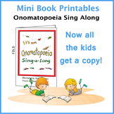Onomatopoeia Sing Along Mini Book