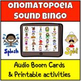 Onomatopoeia Sound Bingo (Boom Cards)