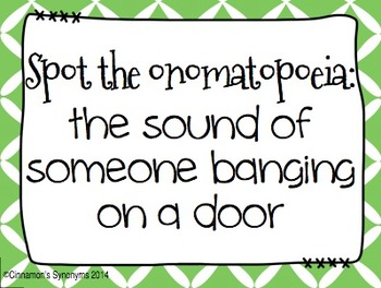 Onomatopoeia Spot It & Steal It Game #1