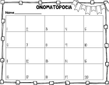 Onomatopoeia Task Cards
