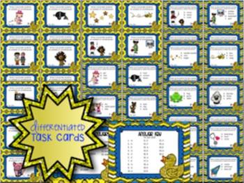 Onomatopoeia Task Cards and Activities