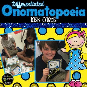 Onomatopoeia Task Cards and Activities