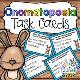 Onomatopoeia Task Cards for Grades 2-3