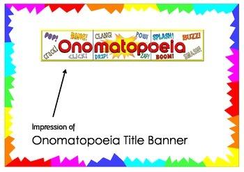 Onomatopoeia Title Banner