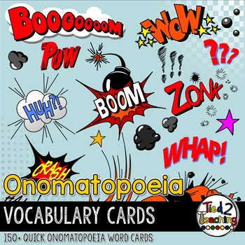 Onomatopoeia Vocabulary Cards