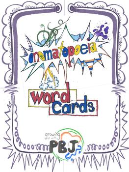 Onomatopoeia Word Cards