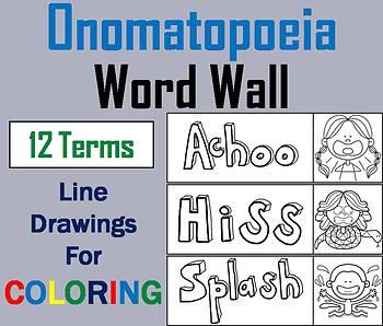 Onomatopoeia Word Wall Cards