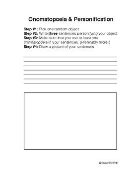 Onomatopoeia and Personification Practice
