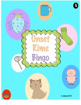 Onset Rime Bingo by For The Love of PreK | Teachers Pay ...