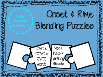 Onset & Rime Blending Puzzles