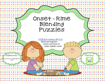 Onset - Rime Blending Word Work Puzzles (Common Core Aligned)