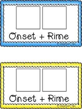 Onset & Rime - Flipbook