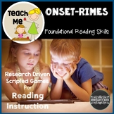 Onset Rime Literacy Lessons and Games: Teach Me to Read