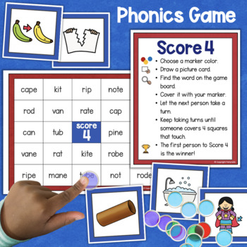 Silent E Activities, Game, and Worksheets