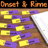 Onset and Rime Matching Cards, Word Family Flip Cards & Word Lists