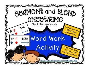 Onset/Rime Segment and Blend - Short i Pattern Words