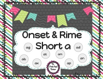 Onset & Rime - Short Vowel A Multi-Pack