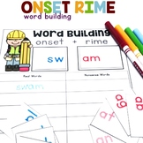Onset and Rime Word Building | Onset and Rime Activity