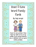 Onset Rime Word Family Cards