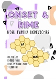 Onset & Rime word family honeycombs