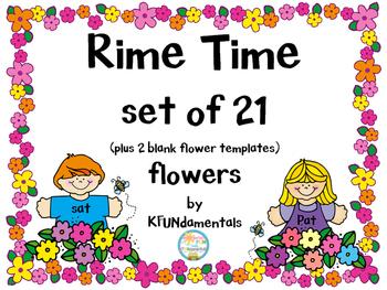 Onset Rimes FUN Flower Set for Pre-K, K, 1st, Special Ed, & Homeschool