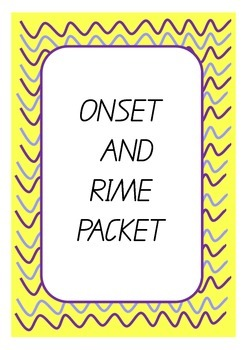 Onset and Rime Packet