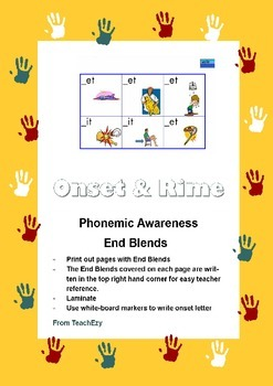 Phonics - Onset and Rime Activity