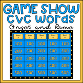 Onset and Rime Activity CVC Words Game Show EDITABLE
