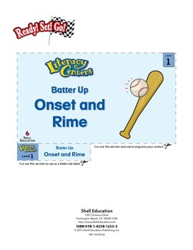 Onset and Rime--Batter Up Literacy Center (eLesson)