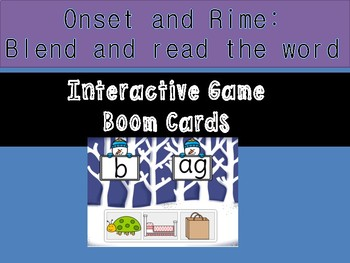 Onset and Rime: Blend and read digital boom cards learning activity