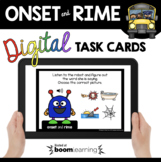 Onset and Rime - Boom Cards™ Digital Task Cards for Phonic