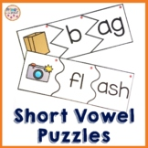 Phonics Puzzles Onset and Rime with -a- word families and spelling patterns
