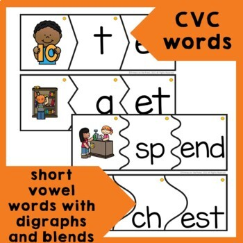 Onset and Rime Build a Word Puzzles- e word families and spelling patterns