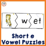 Phonics  Onset and Rime Puzzles featuring e word families and spelling patterns