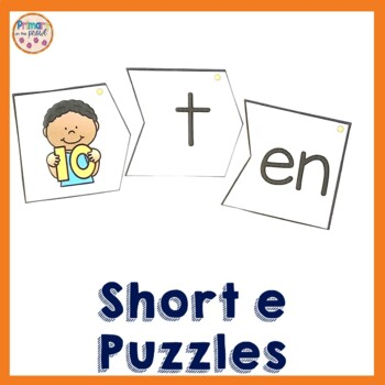Onset and Rime Build a Word Puzzles- e word families and s