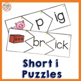 Phonics Build a Word Puzzles with Onset and Rime featuring Letter I