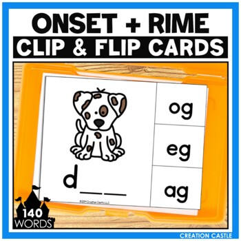 CVC Activity: Onset and Rime Clip Cards