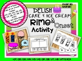 Onset and Rime Cake / Ice Cream Center | & Clip/ Glue Activity | Over 90 Words!!