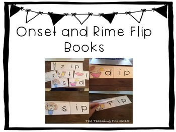 Onset and Rime Flip Books