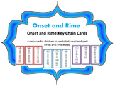 Onset and Rime Keychain Cards for spelling and reading