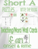 Onset and Rime-SHORT A (Puzzles, Teaching Cards, Write the Room)