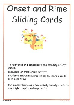 Onset and Rime: Sliding Cards