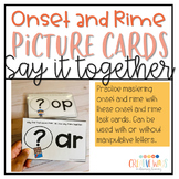 Onset and Rime Task Cards : Say it Together
