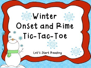 Winter Onset and Rime Tic Tac Toe