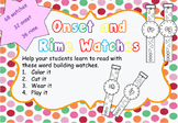 Onset and Rime Time Watches for Phonics