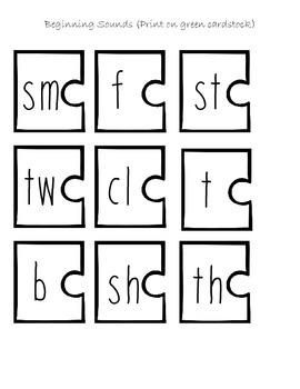 Onset and Rime Word Builders with Blends