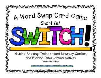 Onset/Rime Card Game - SWITCH Short/e/